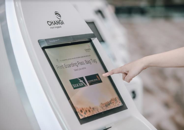 Changi Airport proximity touch screen